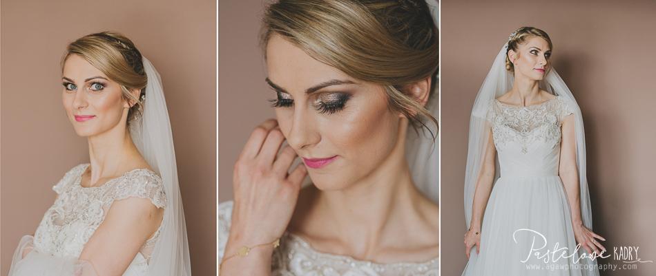 pastelowe kadry ślub