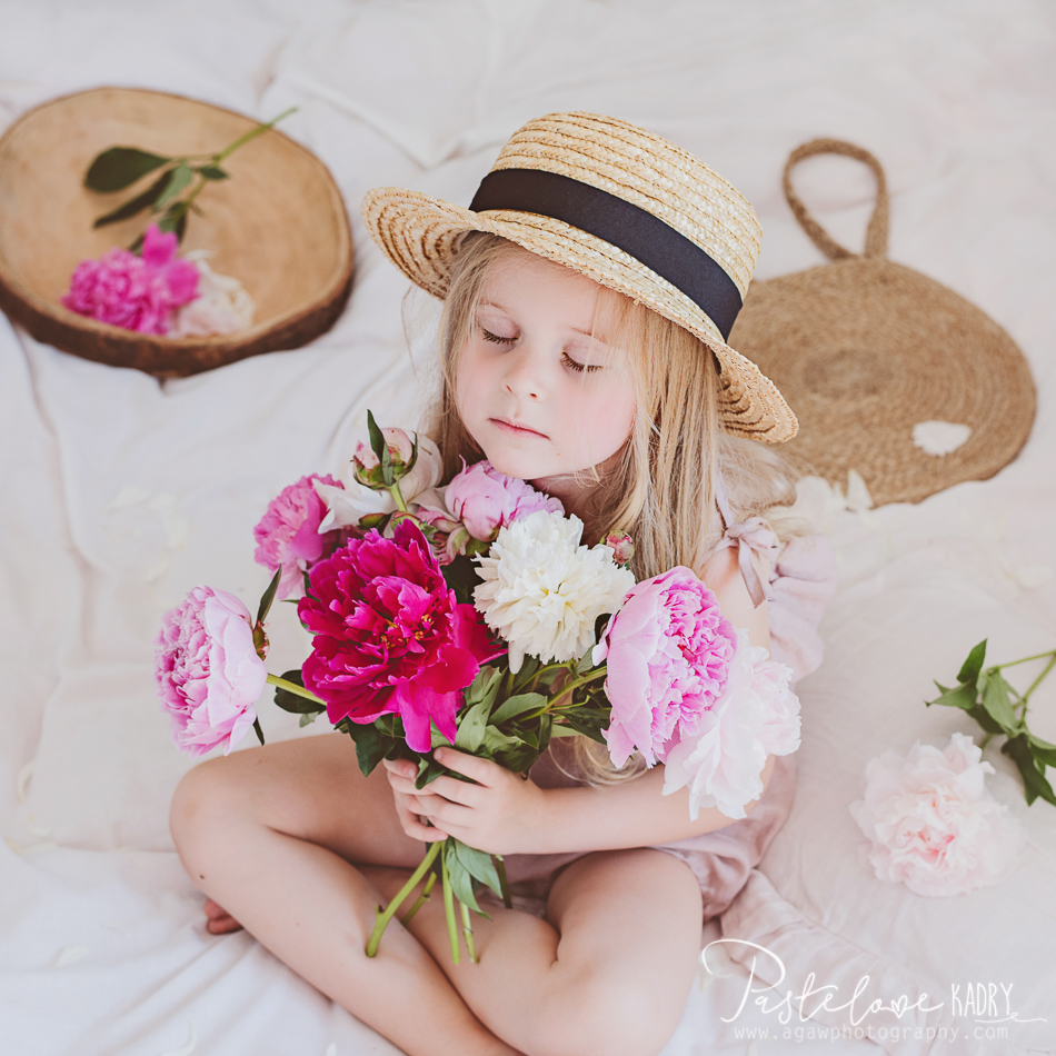fotografia dziecięca piwonie
