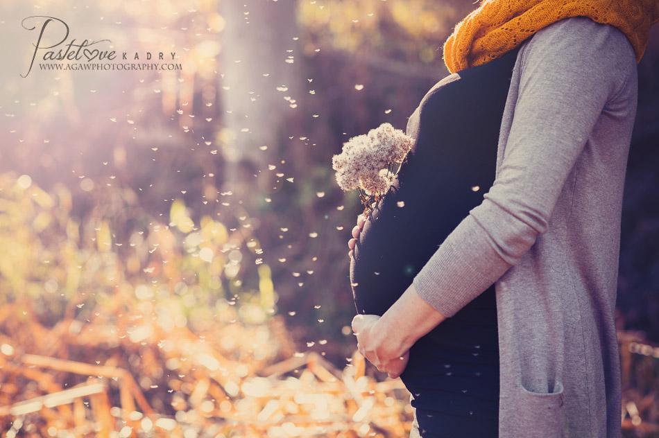 jesienny plener ciązowy