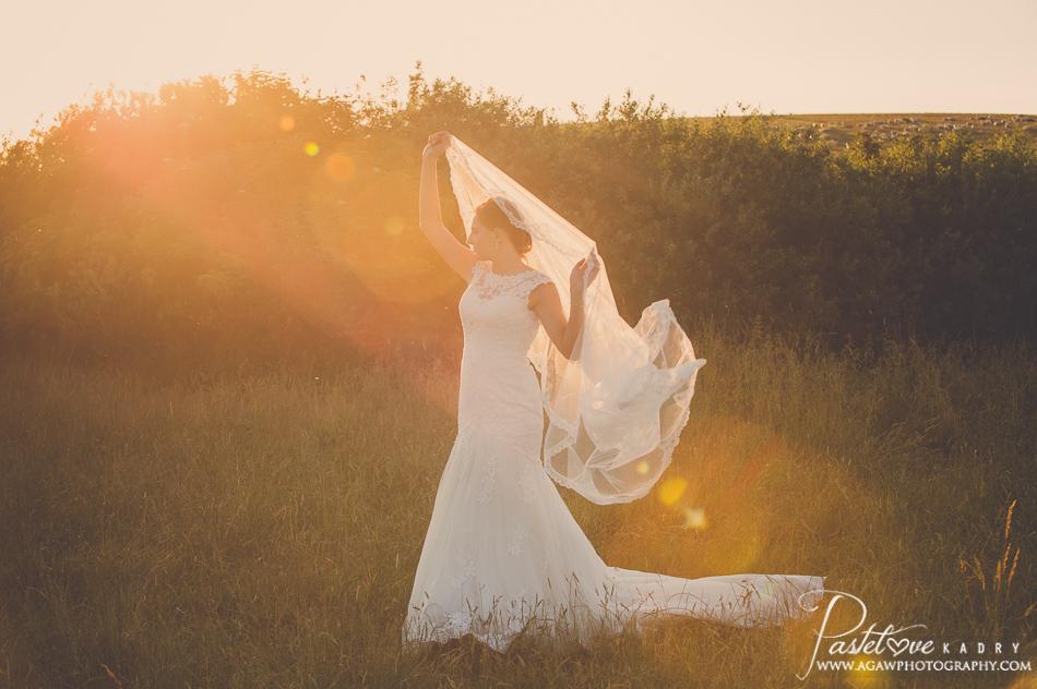pastelowa sesja ślubna