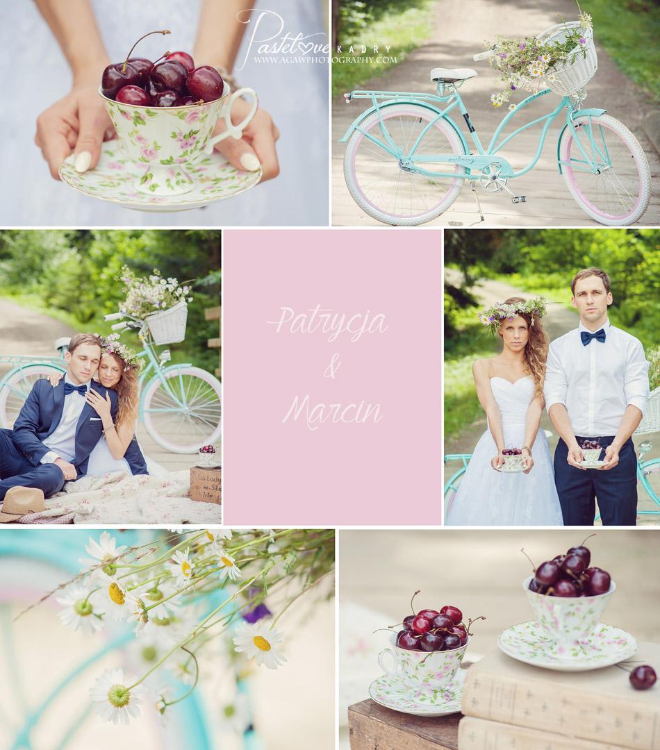 letni plener ślubny