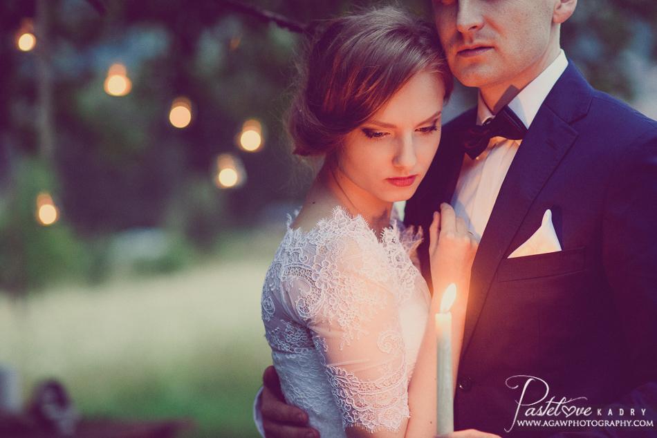 wieczorny plener ślubny