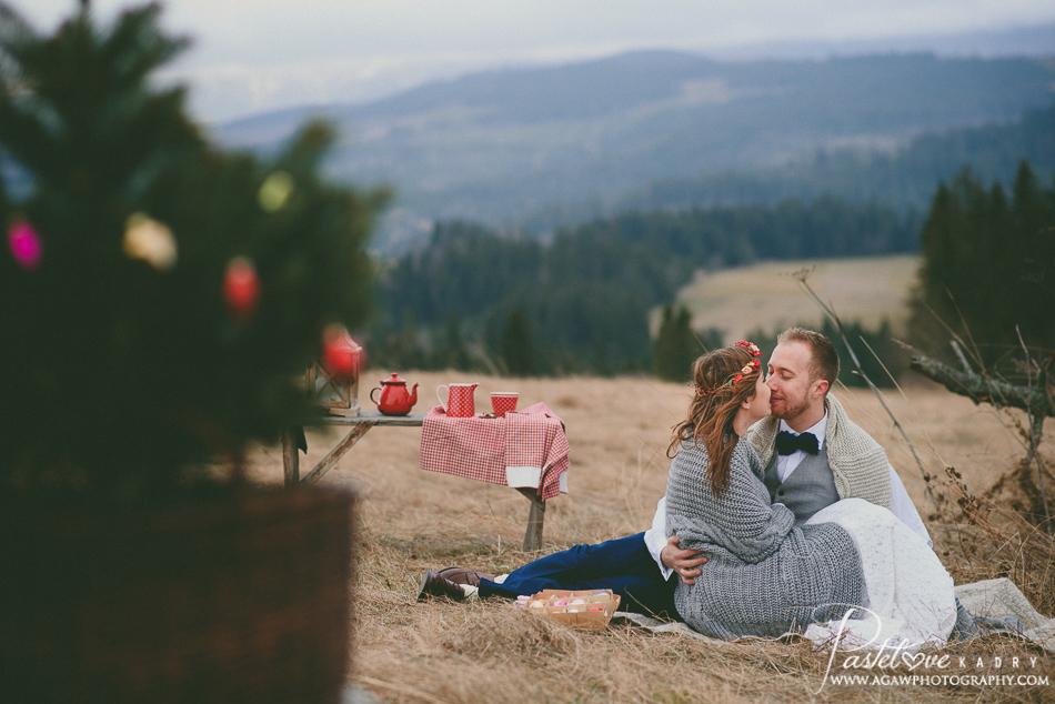 świąteczna sesja ślubna