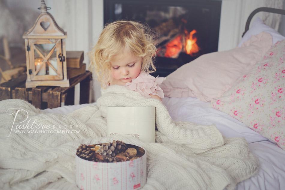 sesja zimowa dla dziewczynki