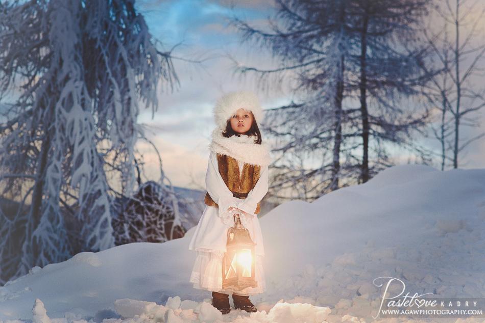 bajkowa zimowa sesja