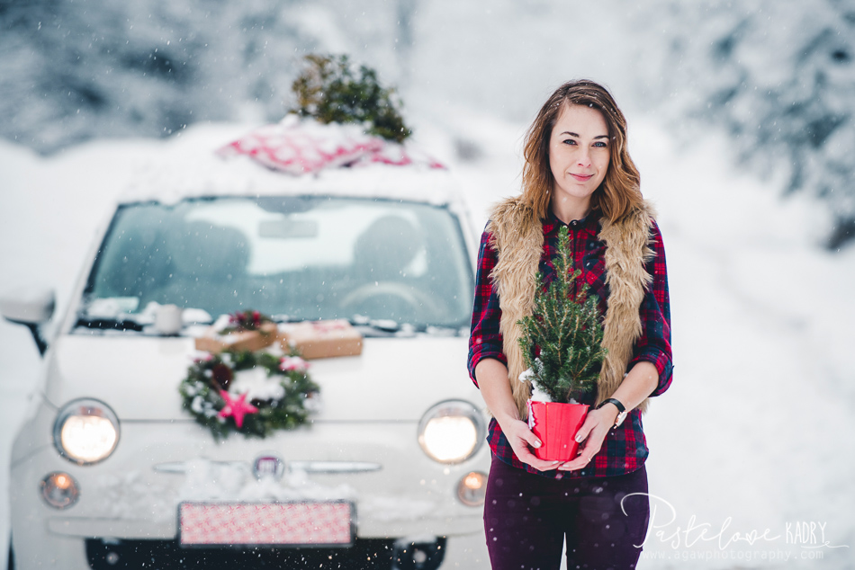zima samochod