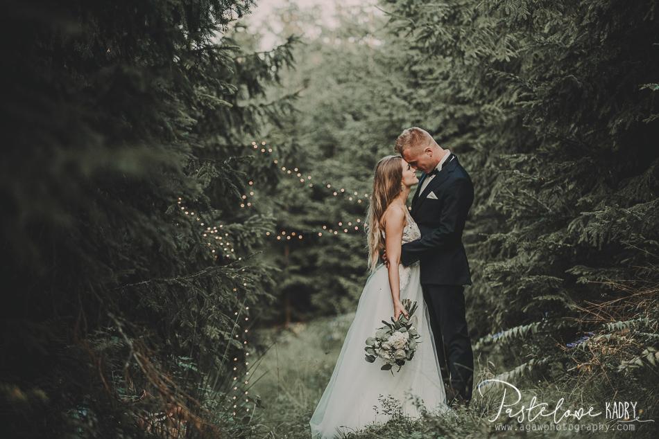 wieczorna sesja ślubna