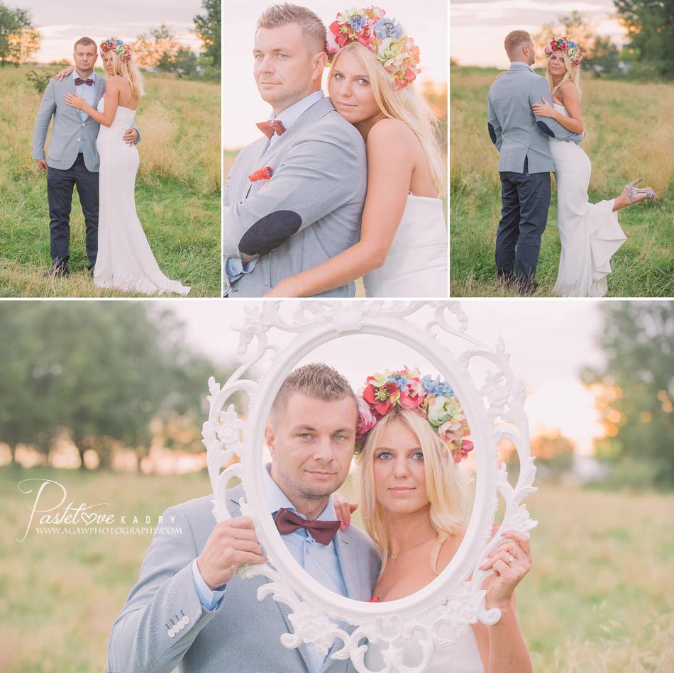 sesja ślubna retro