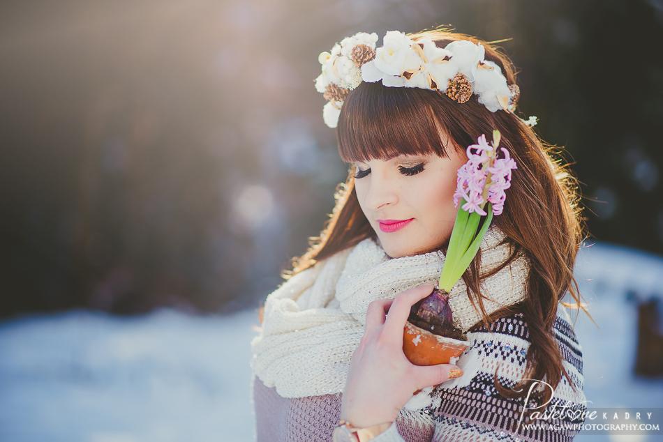 zimowy plener dla dziewczyny