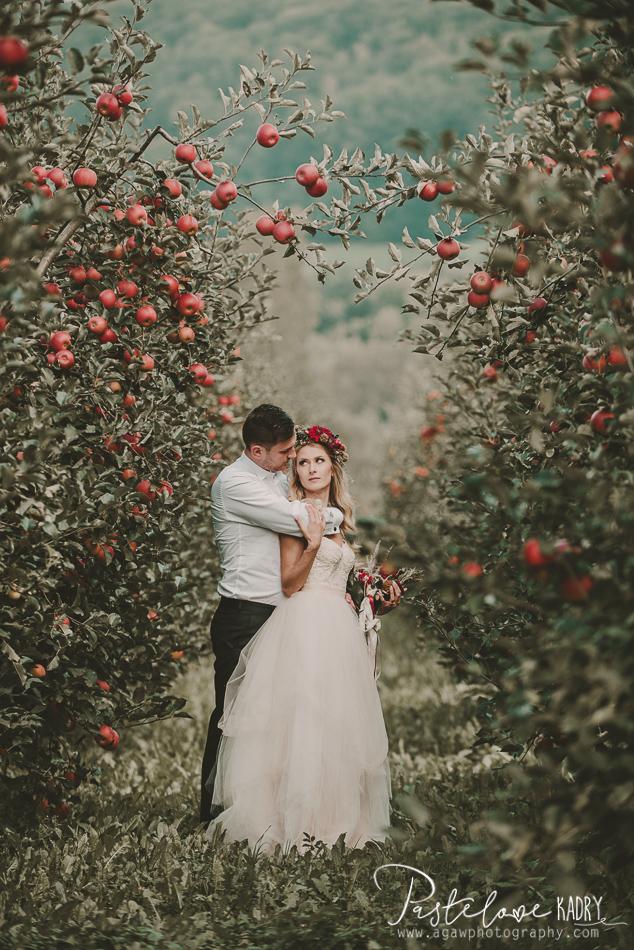 zdjęcia ślubne w sadzie