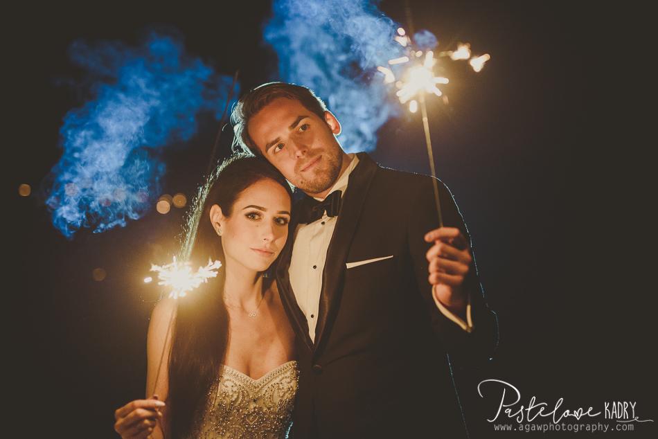 zdjęcia ślubne sztuczne ognie