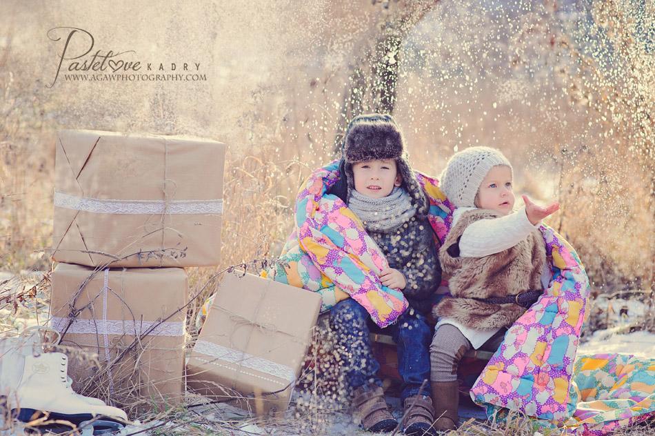 plener dziecięcy w zimie