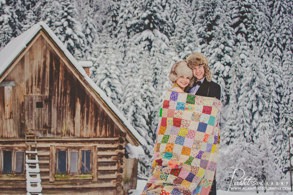 pastelove kadry zimowe sesje
