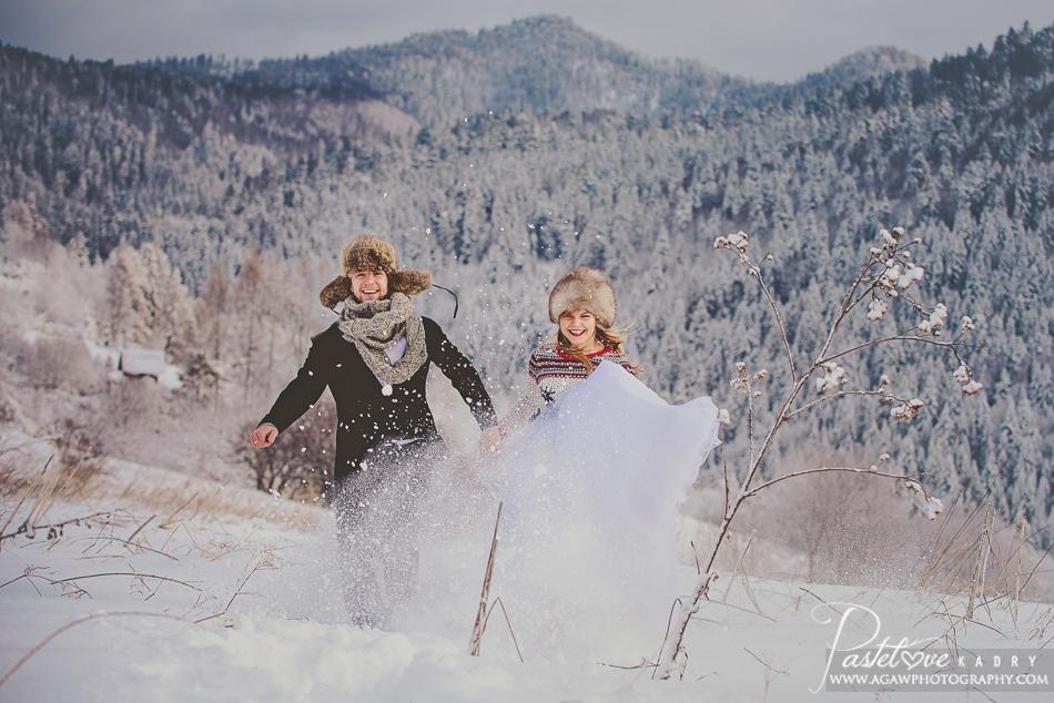 zimowe zdjęcia w Pieninach
